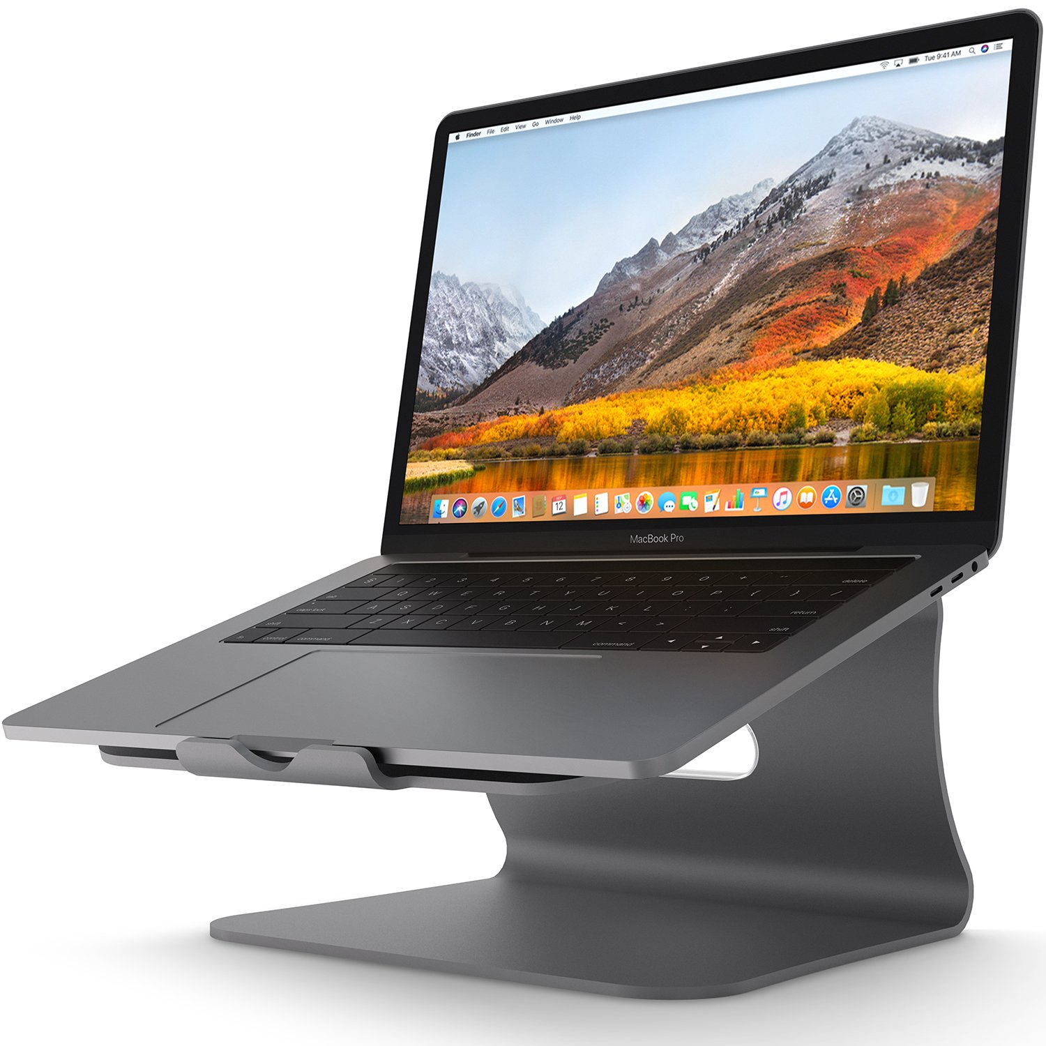Laptop Stand - Bestand Aluminum Cooling Computer Stand: [Update Version] Stand, Holder for Apple MacBook Air, MacBook Pro, All Notebooks, Grey (Patented) by Bestand