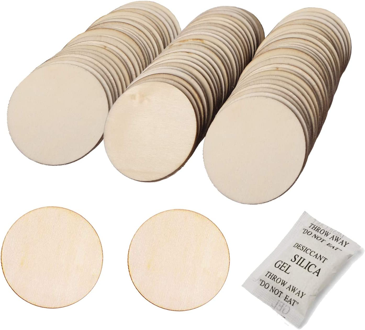 Decoration 120 Pieces 12inchx15pcs School Project Arroyner 12 Small Wood Circles Round Wood Discs DIY Unfinished Round Blank Wooden for Crafts