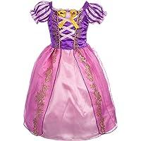 Lito Anges Filles Princesse Raiponce Costumes Fille Princesse Robes Robe pour soirée déguisée