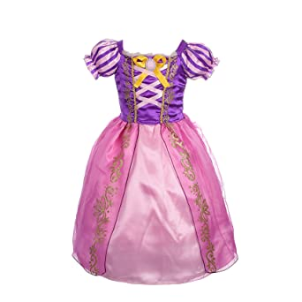 Dressy Daisy Girls' Princess Rapunzel Dress Up Fairy Tales Costume Cosplay Party by Dressy Daisy