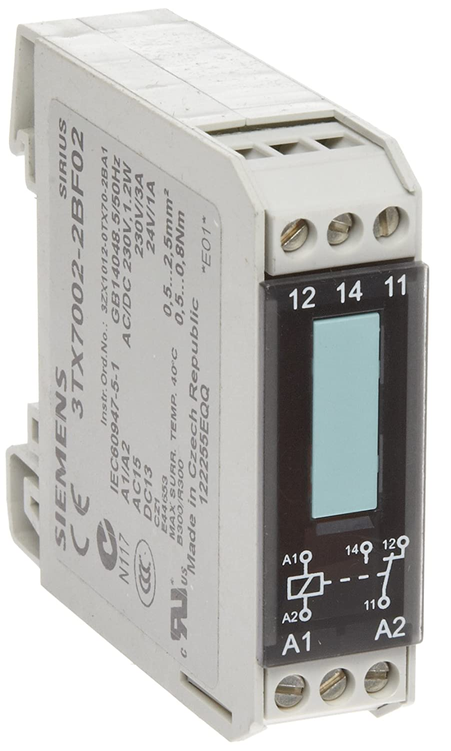 Switching Current In Relay Siemens 3tx7002 3ab00 Interface Narrow Design Output Coupler With Semiconductor 1 No Contact 125mm Width 24vdc Control Supply Voltage 18a Max