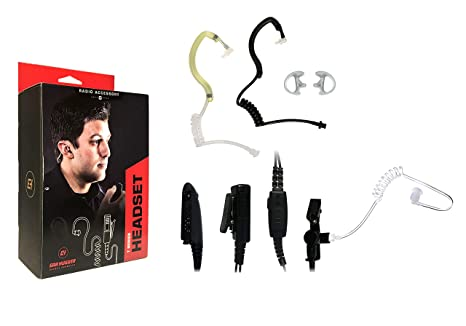 Surveillance Ear-Piece Mic for MOTOROLA HT750 HT1250 HT1550 PR860 MTX-850 MTX950