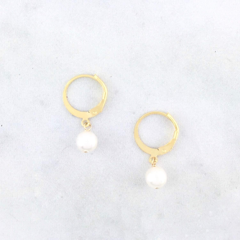 Small Goldfilled Pearls Hoop Earrings