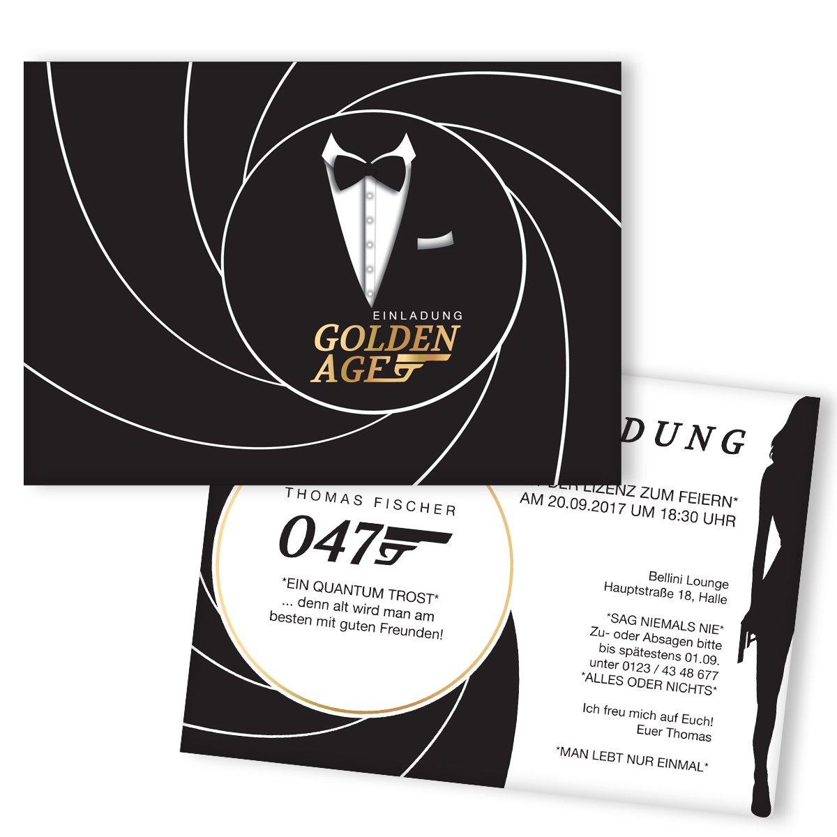 Einladungskarten zum Geburtstag Geheimagent  gestalten   100 Stück   Agent   Lustige Geburtstagseinladungen   Witzige Einladungskarte   Karte Einladung   Inkl. Druck Ihrer persönlichen Texte B0742GT2TX | Perfekt In Verarbeitung  | Queensland
