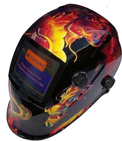 Falcon Auto oscurecimiento soldadura casco máscara de soldar ...