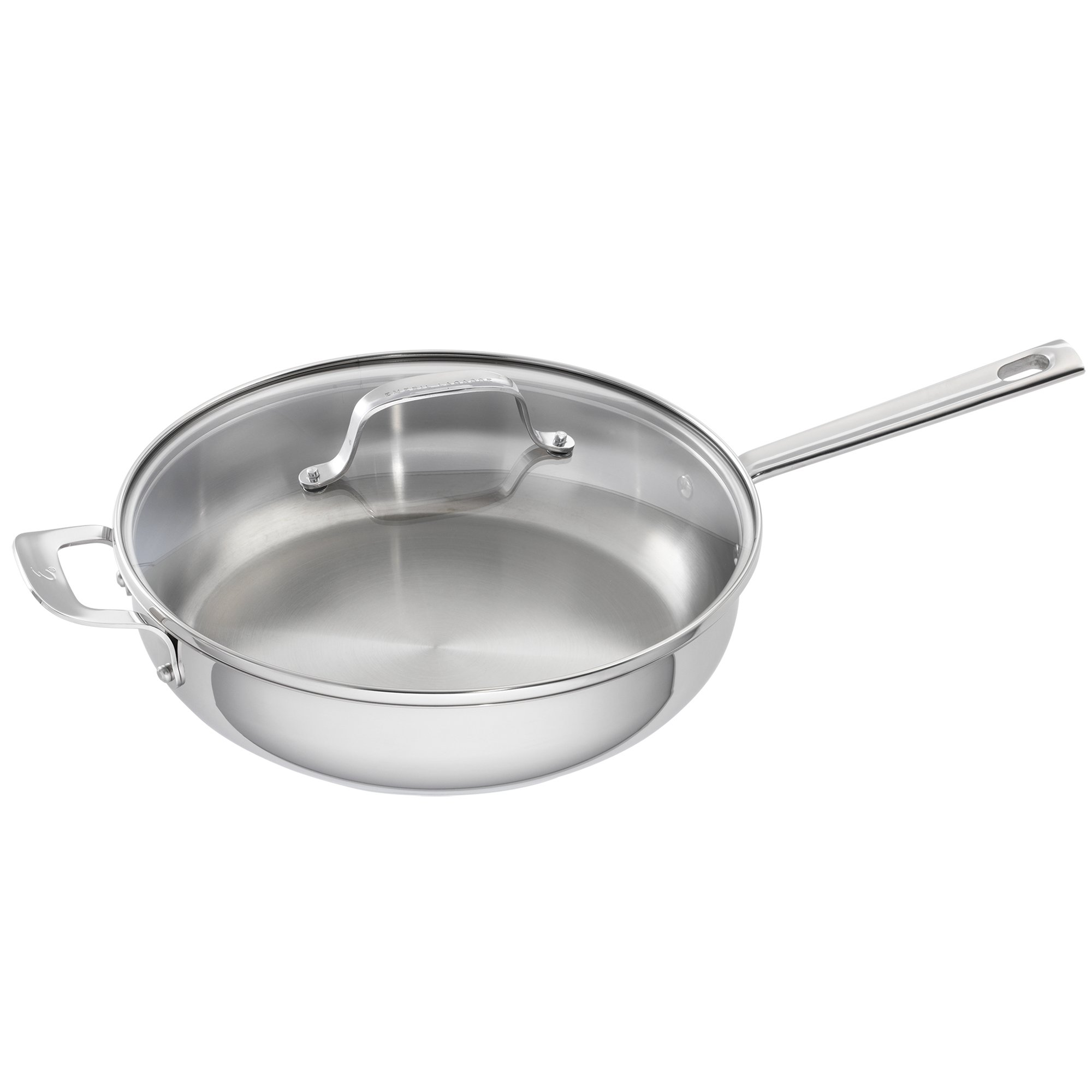 Emeril Lagasse 62957 Stainless Steel Covered Deep Sauté Pan, 5-Quart, Silver