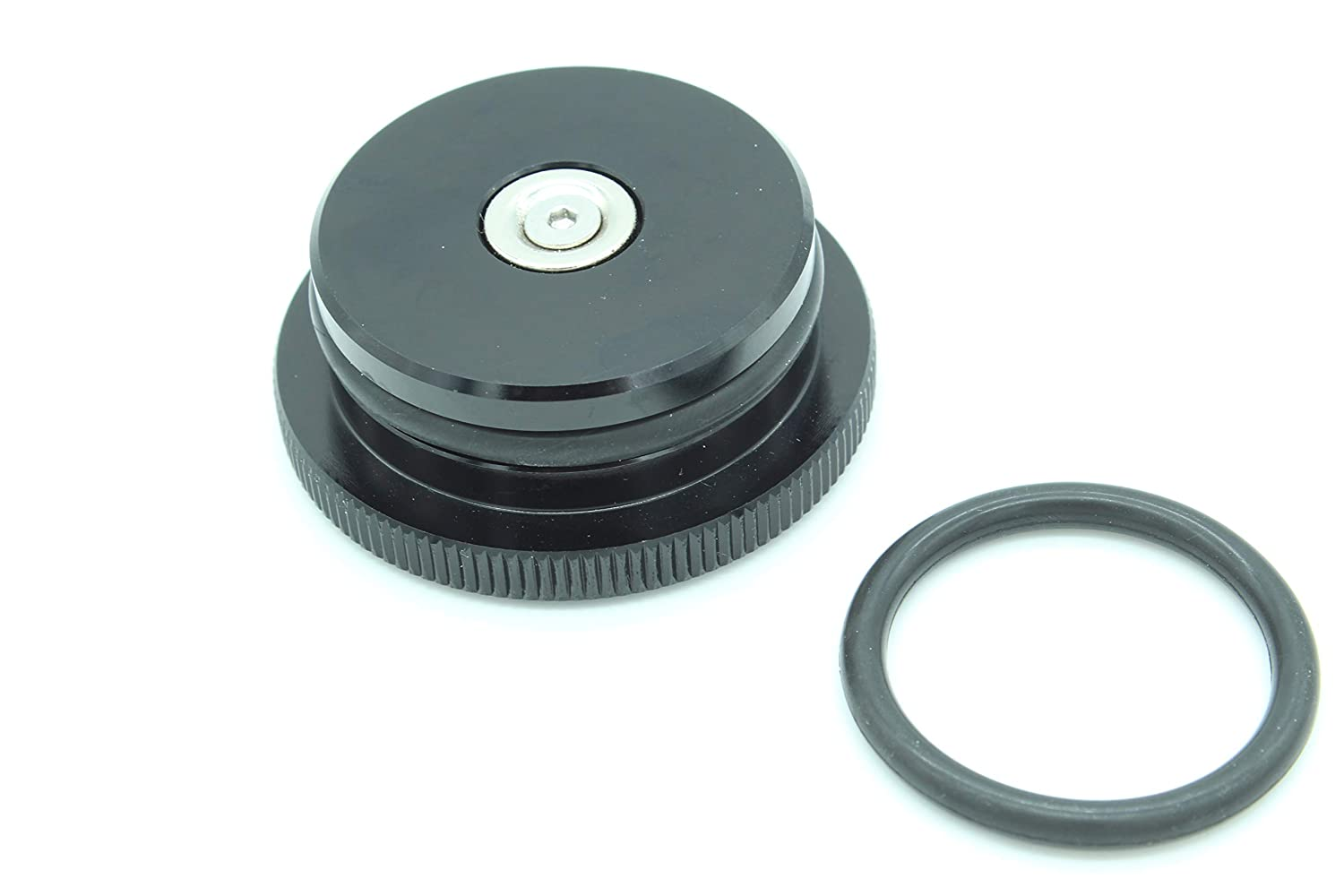 Magnetic Diesel Fuel Cap Accessory for Dodge RAM TRUCK 1500 2500 3500 with 6.7 CUMMINS EcoDiesel includes 2 oring sizes black 2013-2018