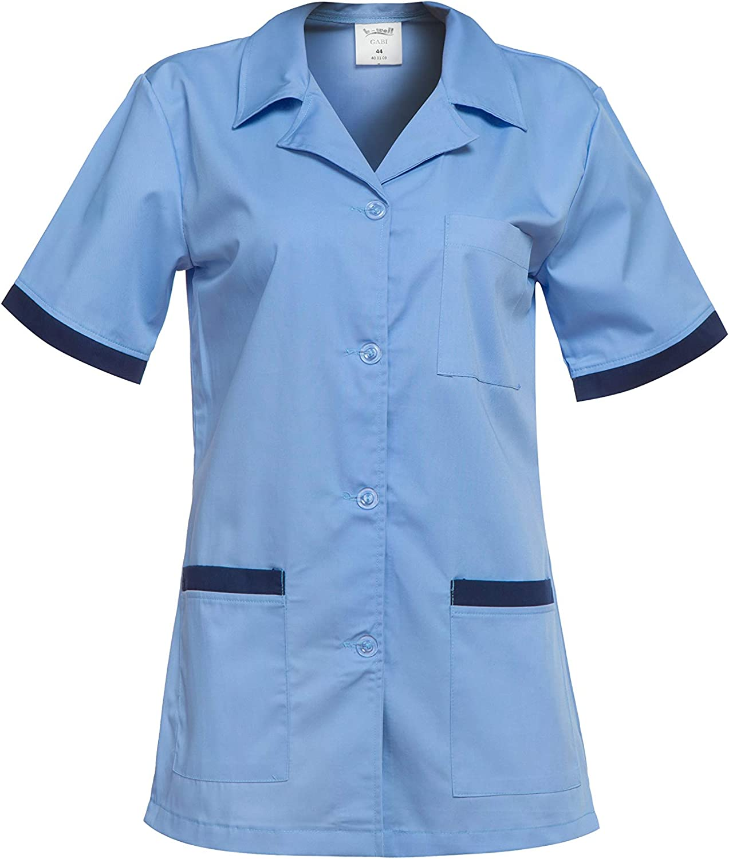 Medico Casacca da Donna DINOZAVR Gabi Uniformi sanitarie Camice da Medico con Bottoni