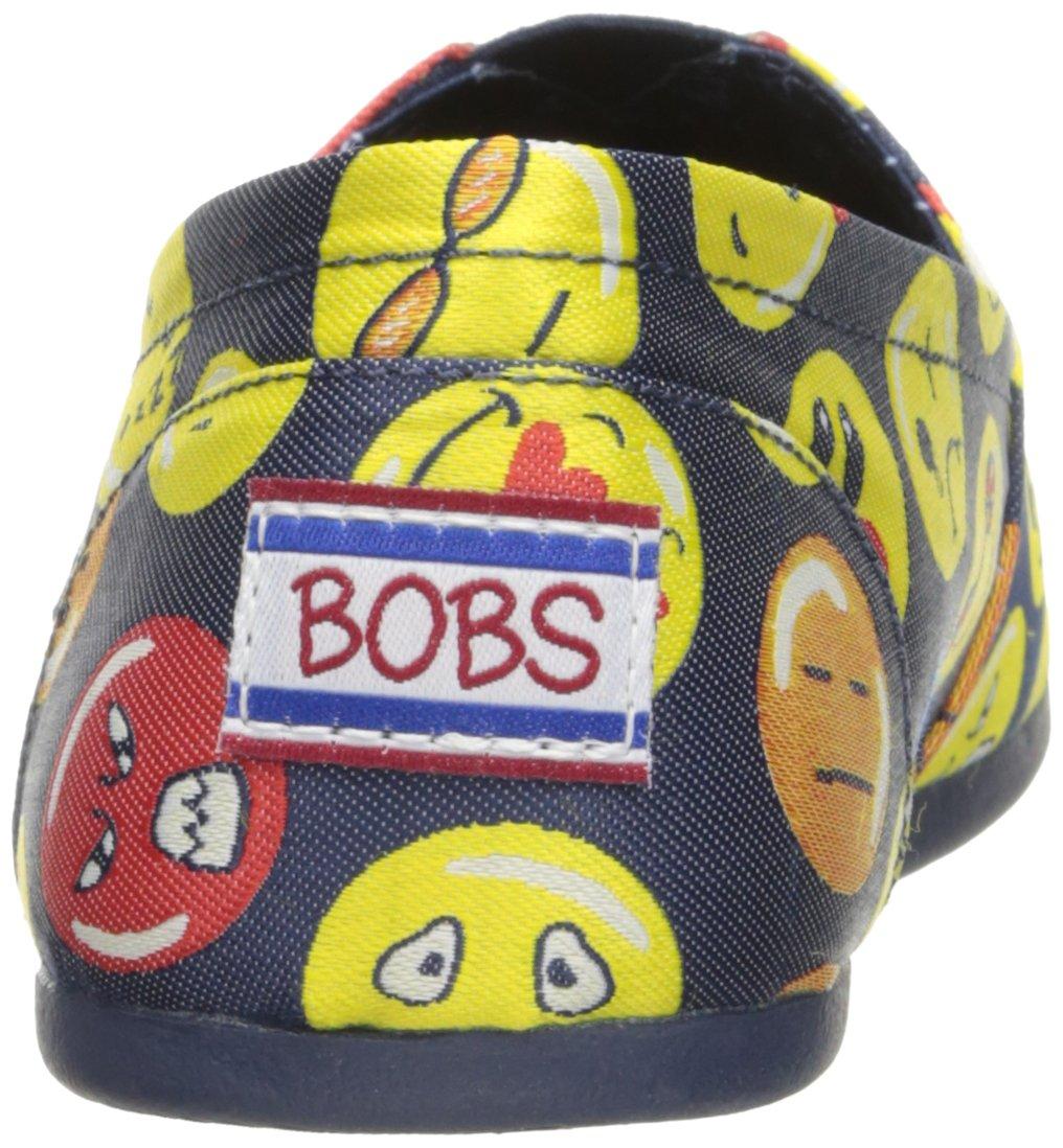 Skechers BOBS from Women's Bobs Plush-Moody Blue Flat B06XFFGF1H 5.5 B(M) US|Navy