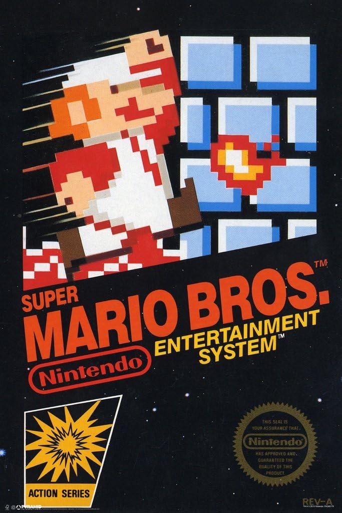 Pyramid America Super Mario Brothers Game Box Video Gaming Cool Wall Decor Art Print Poster 12x18