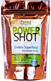 100 % PURE - Raw Organic Vegan - Power Shot Greens Superfood Blend - Spirulina, Chlorella, Wheat Grass, Blue-Green Algae, Kale, More! - 60 SERVINGS from Essona Organics, Powder - 180 gms. Order Today!