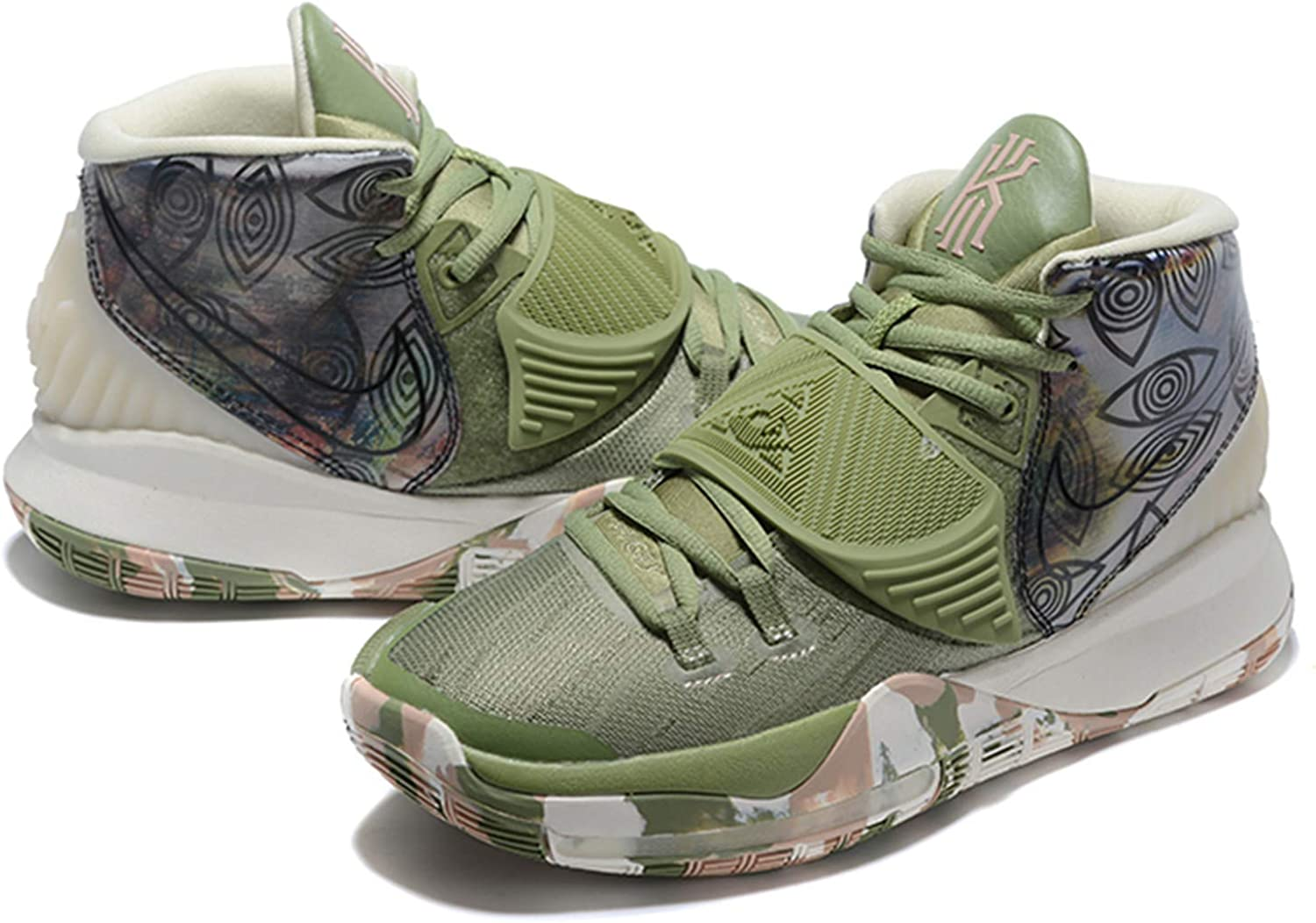 Amazon.com: Zoom Kyrie 6 Men's Basketball Shoes Green/White ...