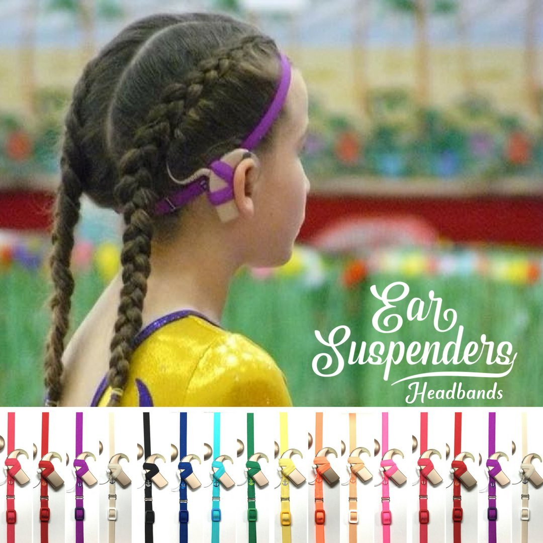 Ear Suspenders Headband for Cochlear Implant Processor Retention