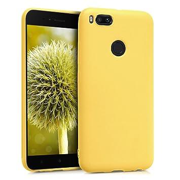 kwmobile Funda para Xiaomi Mi 5X / Mi A1 - Carcasa para móvil en TPU silicona - Protector trasero en amarillo mate