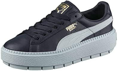 PUMA Women s Basket Platform Trace Block Night Sky Sterling Blue Sterling  Blue 8.5 B 13e3fbb30