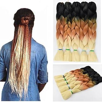 Amazon Com Syme Crochet Hair Ombre Braiding Hair Kanekalon Braiding