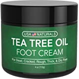 Tea Tree Oil Foot Cream - Instantly Hydrates and Moisturizes Cracked or Callused Feet - Rapid Relief Heel Cream - Natural Tre