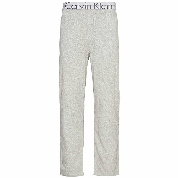 Calvin Klein - Pantalón de Pijama - para Hombre Gris Gris Small-(71 cm