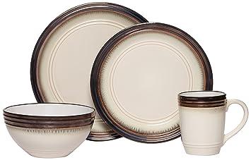 Amazon.com   Gourmet Basic by Mikasa Bailey 16-Piece Dinnerware Set ...