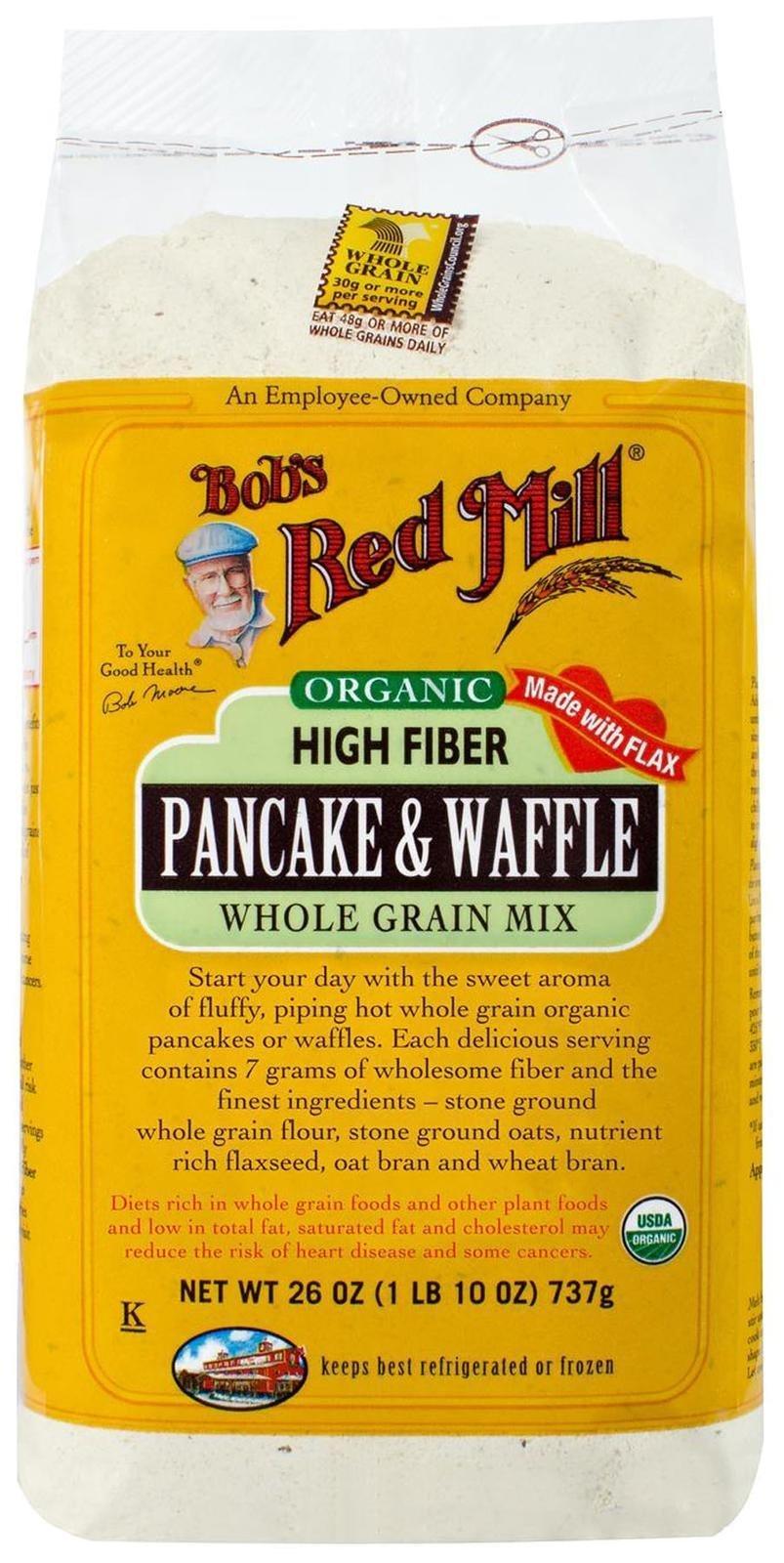 Bob's Red Mill Organic High Fiber Pancake & Waffle Mix - 26 oz
