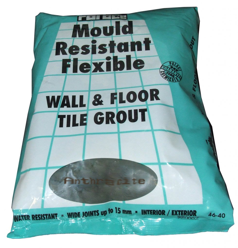Grout 5kg turquoise wall tiles and floor tiles the tile experience - Flexible Anti Mould Wall Floor Tile Grout Black Anthracite Amazon Co Uk Diy Tools
