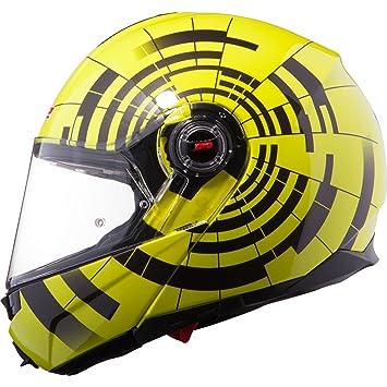 LS2 ff386.21 Abyss Tapa frontal para casco de moto Hi-Vis Yellow Black