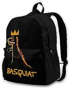 Jean Michel Basquiat Backpack Lightweight Laptop Backpack Daypack Travel Hiking Daypack for Unisex
