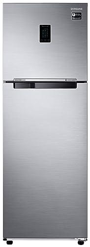 Samsung 345L 3 Star Inverter Frost Free Double Door Refrigerator  RT37T4513S8/HL, Elegant Inox, Convertible  Refrigerators