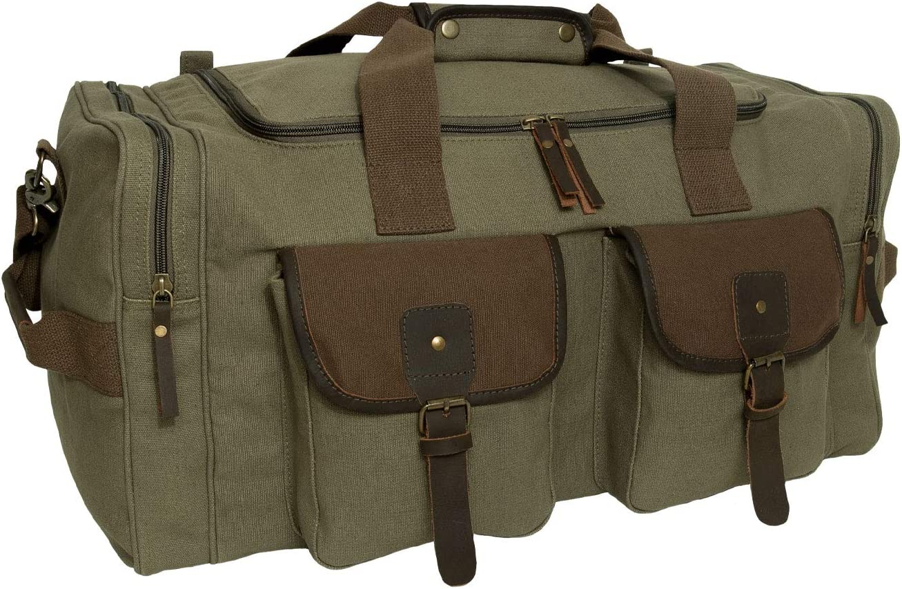 Rothco Rolling Canvas Travel Luggage Military Backpack