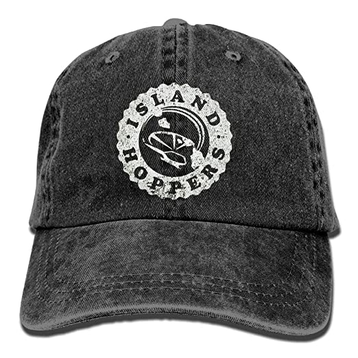 2bccf264f9d Amazon.com  ISLAND HOPPERS - Magnum 80s Retro Tv Show Baseball Straight Hat  Outta Timeout Adjustable Trucker Visor Cap Black  Clothing
