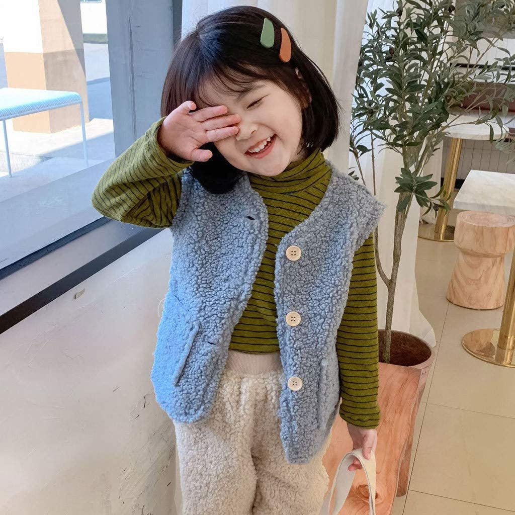Moonker-Baby Tops Toddler Girls Boys Kids Winter Warm Waistcoat Thick Coat Vest Fashion Solid Outwear Clothes 2-6 Years Old