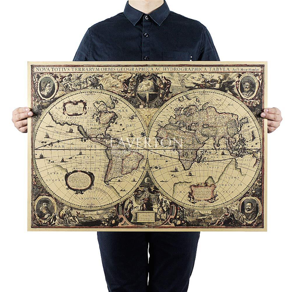 National Geographic mondo Decorator ingrandito mappa a muro geografica nazionale mappa di riferimento (carta nautica antica) Hilai