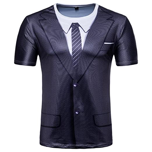 379bdee2 Amazon.com: Caopixx Mens Clothing, T-Shirts for Men Offer 3D Printed Short  Sleeve Tee Casual Slim Fit Tops Blouse 2018: Clothing