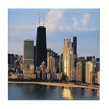 CafePress - Chicago From Lake Shore Drive - Tile Coaster, Drink Coaster, Small Trivet