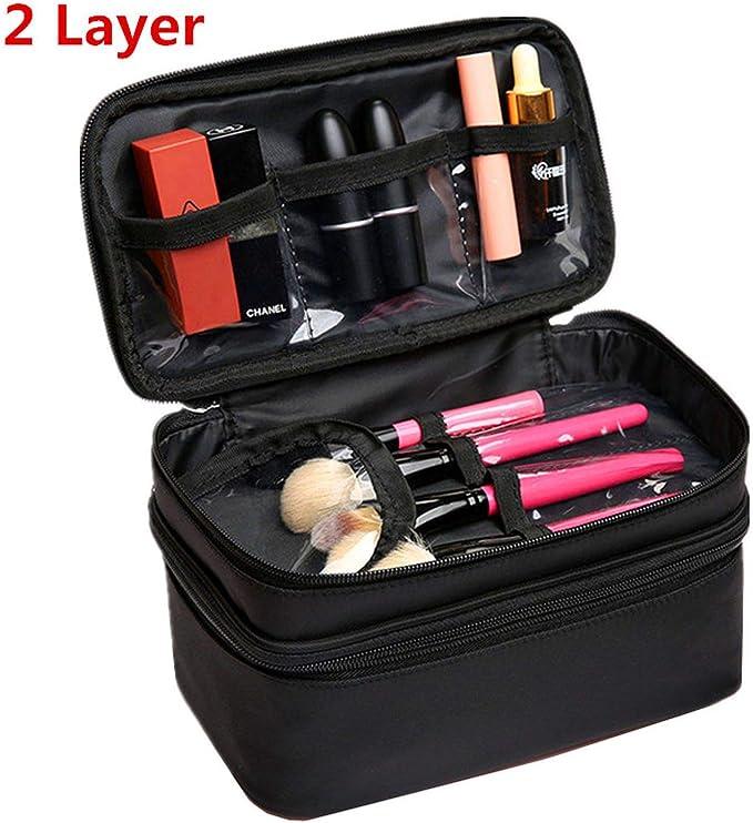 Neceser Grande para Mujer, Impermeable, para Viaje, necesaria, Bolsa de Maquillaje: Amazon.es: Equipaje