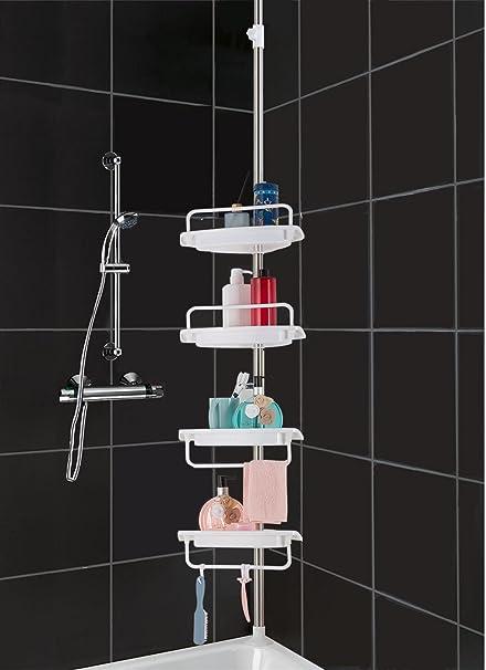 Amazon.com: HomeHelper Tension Corner Shower Caddy, Rustproof ...