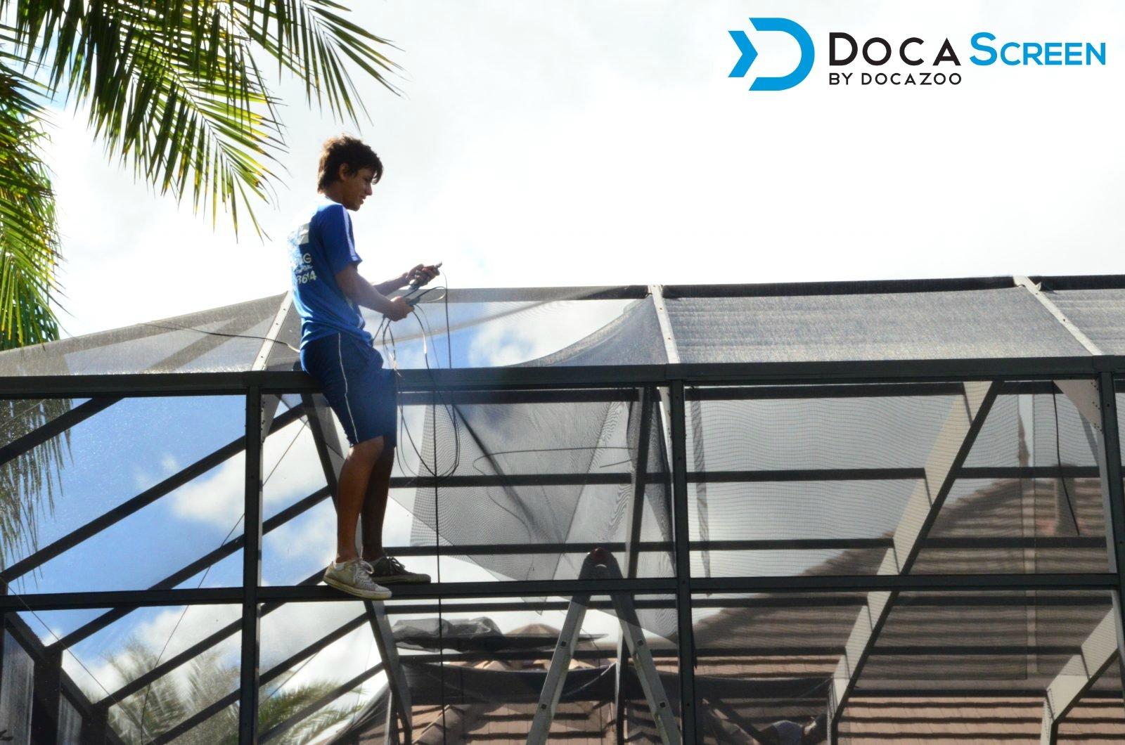 "DocaScreen Standard Window Screen Roll – 60"" x 100' Fiberglass Screen Roll – Window, Door and Patio Screen – Insect Screen//Fiberglass Screening//Screen Replacement//Window Screens by DOCAZOO (Image #5)"