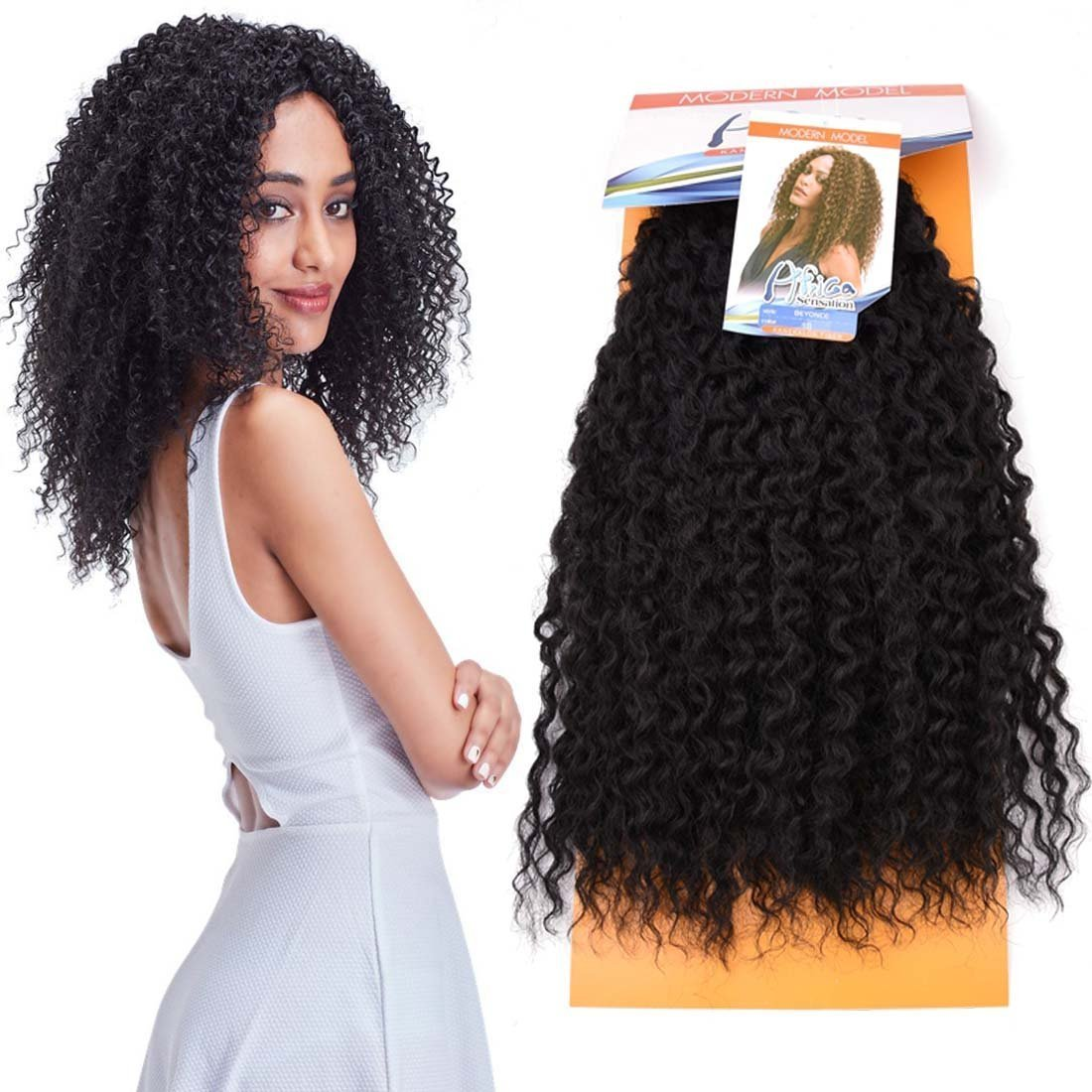 Amazon New Afro Curly Synthetic Hair Extensions African Women