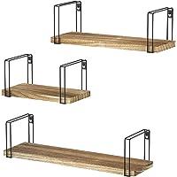Sriwatana Set of 3 Wood Wall Rustic Floating Shelves