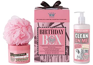 Soap And Glory Birthday Box Gift Set Inc Clean On Me Righteous Body Butter