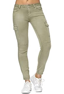 Fashion4Young 5755 Damen Jeans Röhrenjeans Hose Stretch