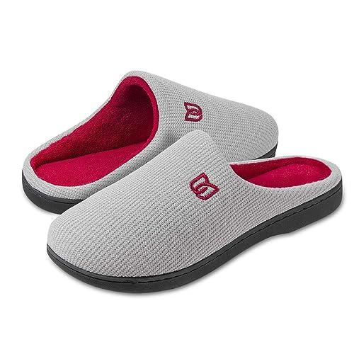 Zapatillas de Estar por casa Mujer Hombre Invierno Interior Pantuflas de casa - Caliente, Suave y Antideslizante: Amazon.es: Zapatos y complementos