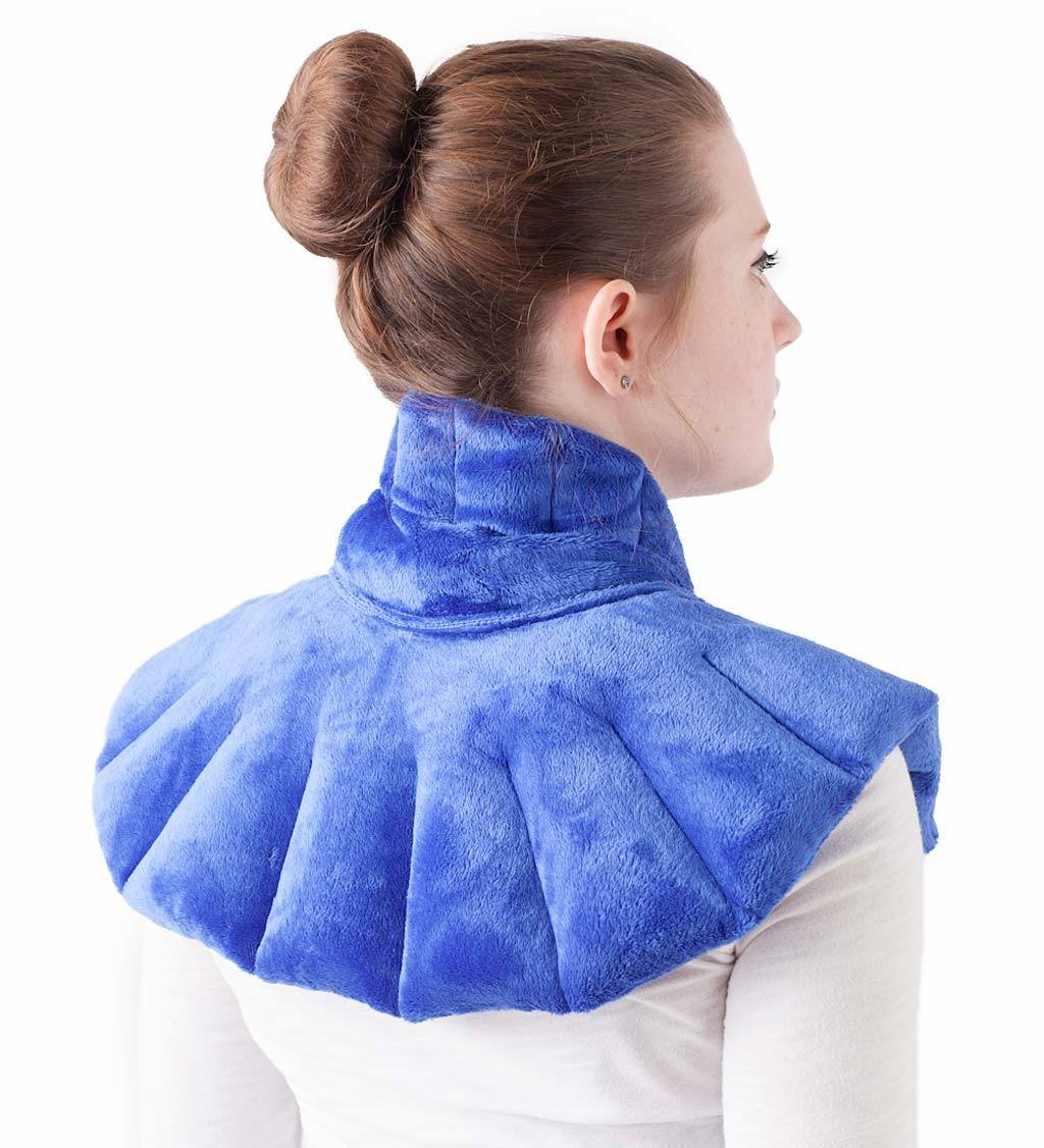 Wind & Weather, Soothing Herbal Aromatherapy Neck, Shoulder and Back Wrap, Heating Pad and Cold Therapy, Designed for Muscle Pain and Tension Relief, Hot or Cold Therapy, Made in USA, 13'' H x 23'' W by Wind & Weather