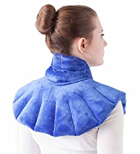 """Wind & Weather, Soothing Herbal Aromatherapy Neck, Shoulder and Back Wrap, Heating Pad and Cold Therapy, Designed for Muscle Pain and Tension Relief, Hot or Cold Therapy, Made in USA, 13"""" H x 23"""" W"""