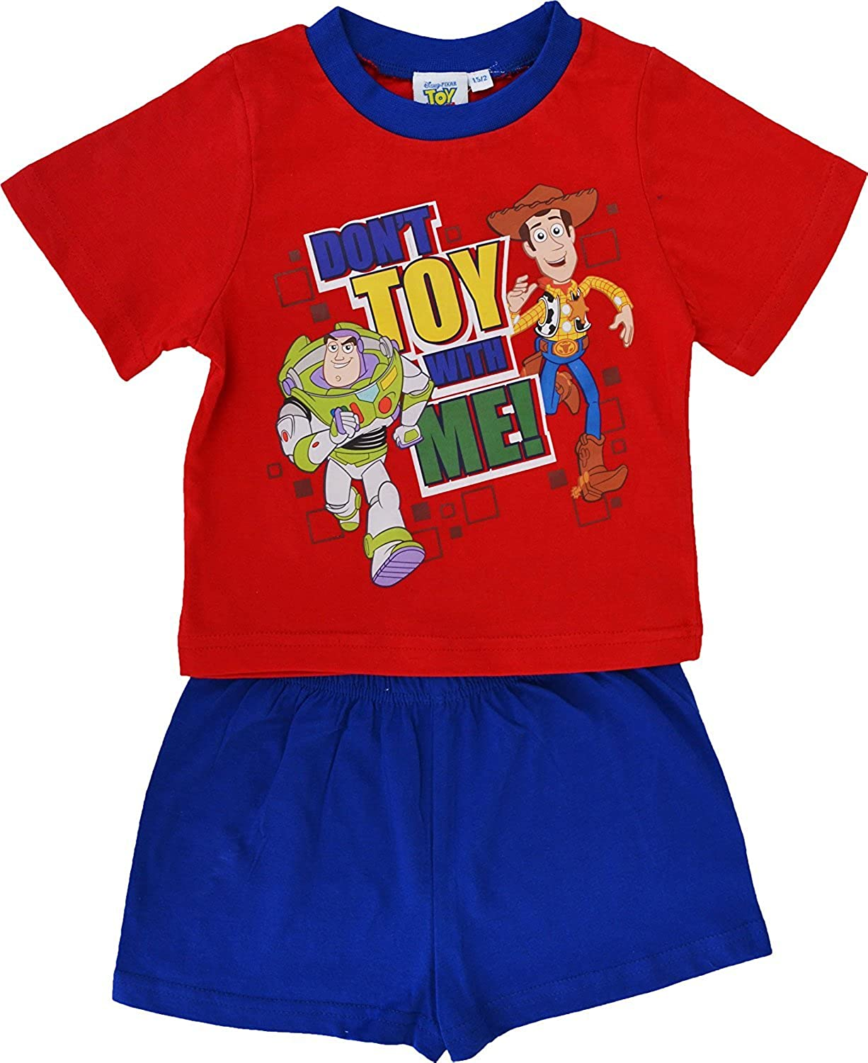 Disney Boys Toy Story Buzz Lightyear Short Pyjamas Size 18 Months to 5 Years