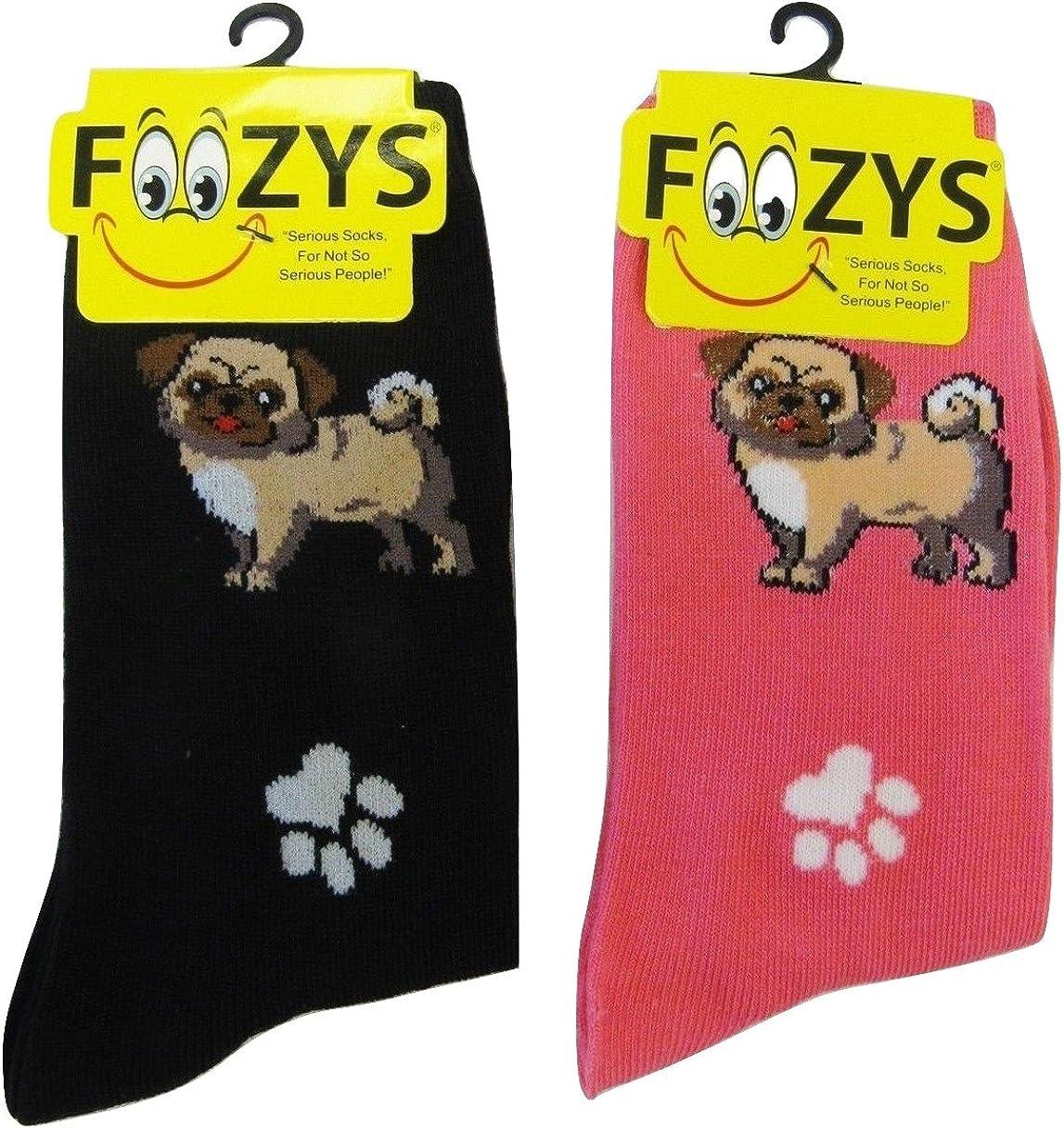 2 Pair Cute Animal Themed Fashion Novelty Socks Foozys Women/'s Crew Socks