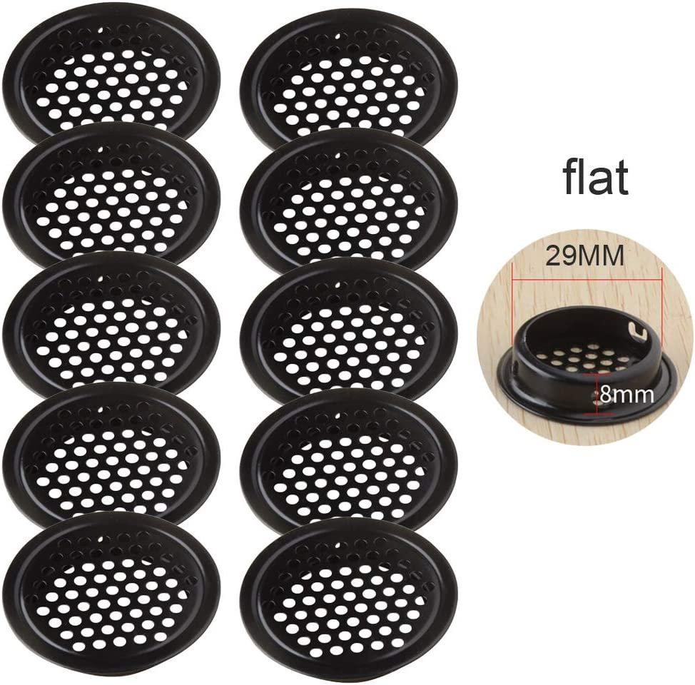 Xdodnev Wardrobe Cabinet Mesh Hole Stainless Steel Louver Air Vent Ventilation Cover Set