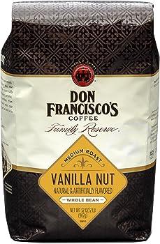Don Francisco's Vanilla Nut Flavored Whole Bean 32oz Coffee Bag