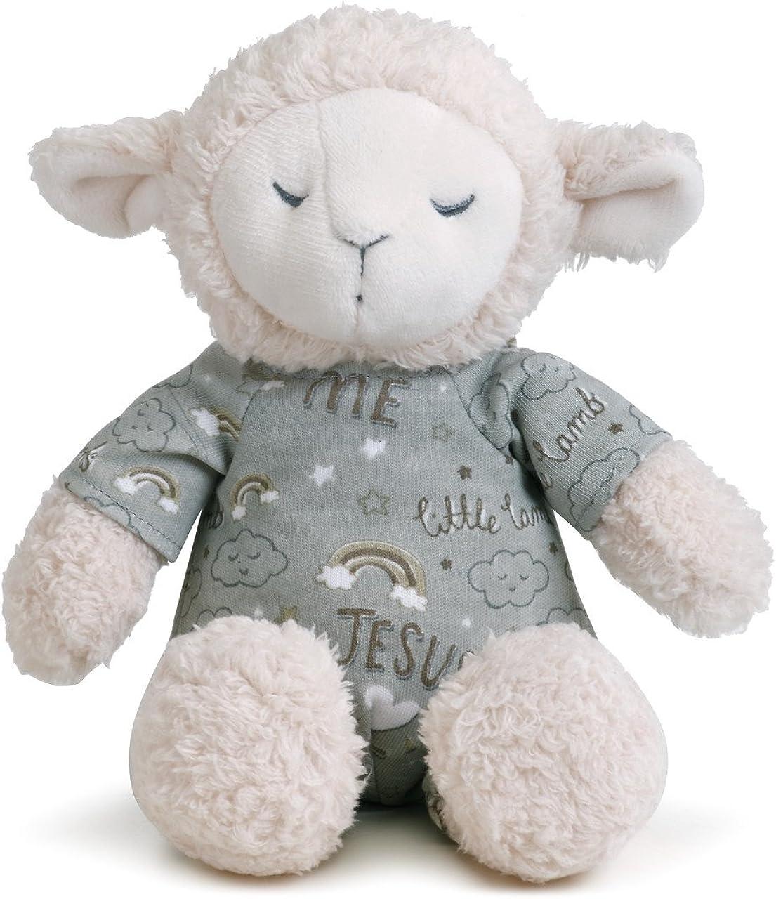 Babys 0-6 Months Cotton Plush 2 Piece Stuffed Animal /& Pajamas Set