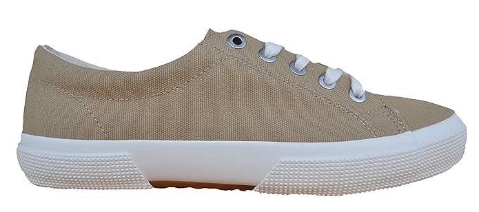 Ralph Lauren Lauren by Damen Sneakers Jolie NE Khaki Canvas